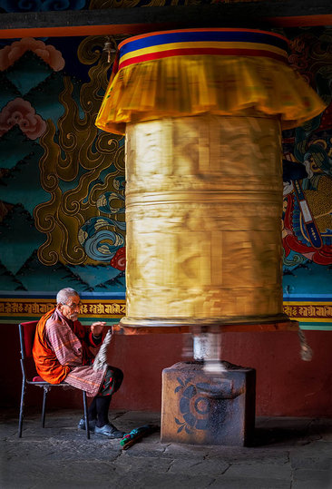 Prayer wheel, Bhutan