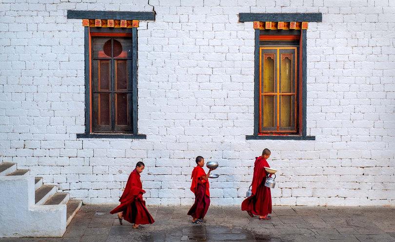 Buddhist Monks, Bhutan