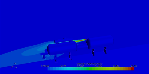 CFD of a jt fie impinging on a vessel