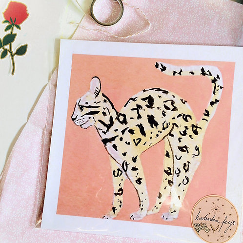 Exotische kat print