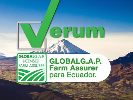 Verum Control, Farm Assurer certificado GLOBALG.A.P. en Ecuador