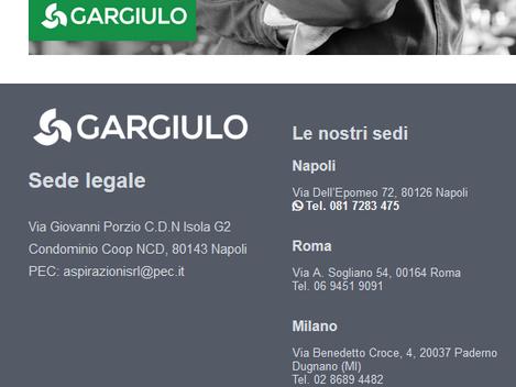 Gargiulo Aspirazioni - www.aspirazioni.it