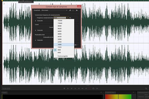 conversione in formato audio diverso dall'MP3