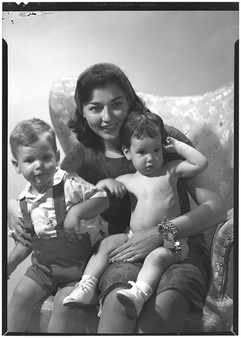 Mrs. Buddy Hackett and children