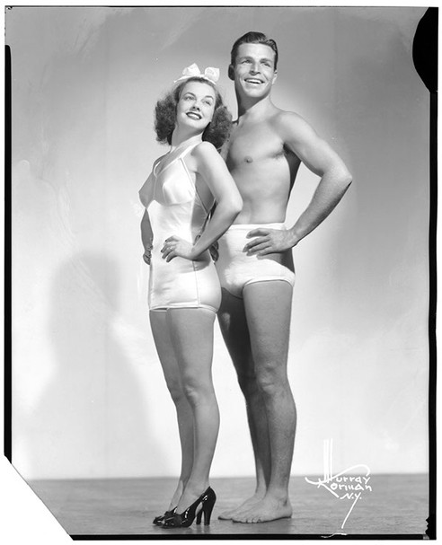 Eleanor Holm and Johnny Weissmuller