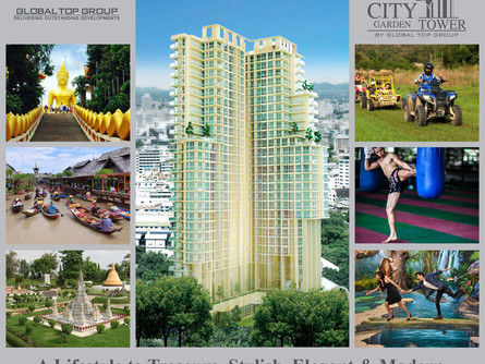 CITY GARDEN TOWER PROPERT IN PATTAYA, REAL ESTATE INVESTMENT INTO AN OPULENT LIFE.
