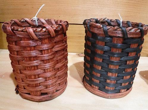 Miniature Round Amish Basket