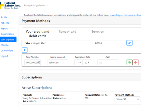 Managing Your Payment Information in SatCloud