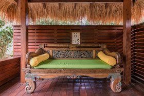 Bliss Cottage - Day Bed in Balinese Gazebo