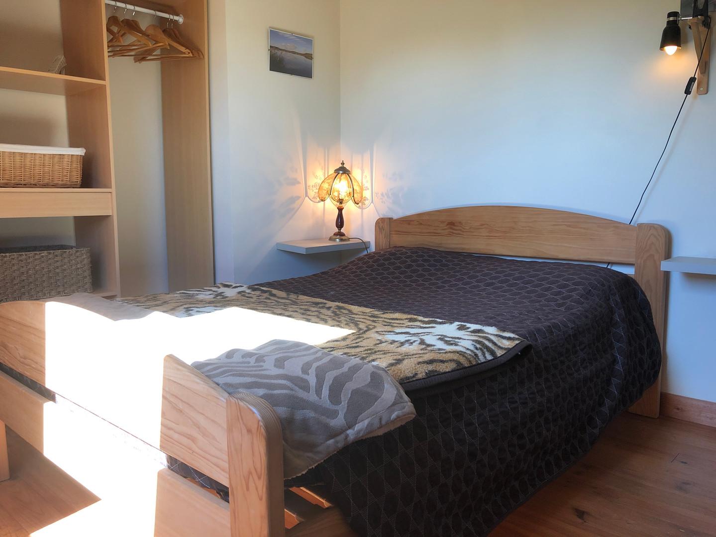 Comfy bedroom.