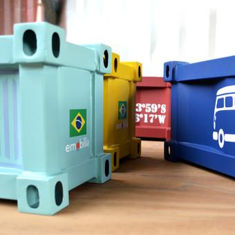Lareira Container e Kombi Camper