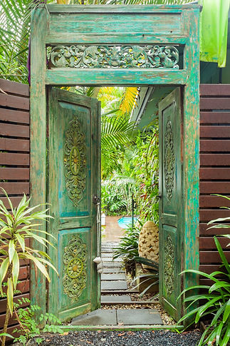 The Retreat, Balinese Door, Sanctuary in The Pocket; Luxury Accommodation; Byron Bay Hinterland