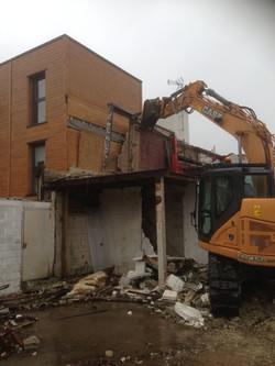Démolition d'un immeuble mitoyen