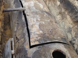 Évacuation d'une cuve enterrée