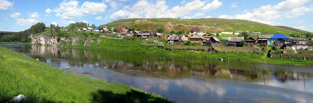 Река Ай, около Межевого, вид на Новую пристань