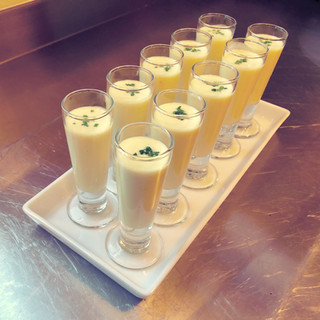 Chilled Corn Soup Shooters