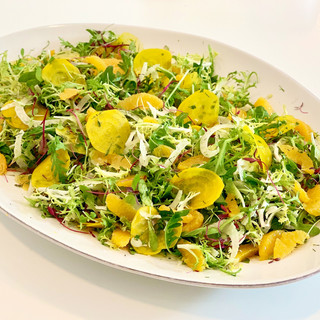 Shaved Golden Beet Salad with Fennel, Orange & Mint