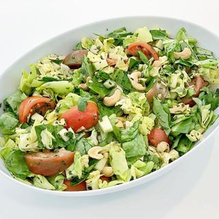 Heirloom Tomato, Green Apple & Cashew Salad with Fish Sauce Citronette