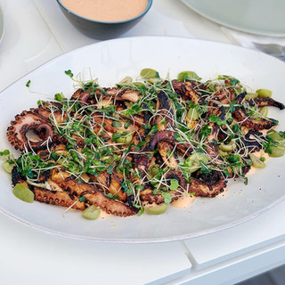 Grilled Octopus with Chili Yogurt Sauce