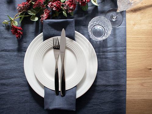 Plain Linen Table Runner - Navy Blue