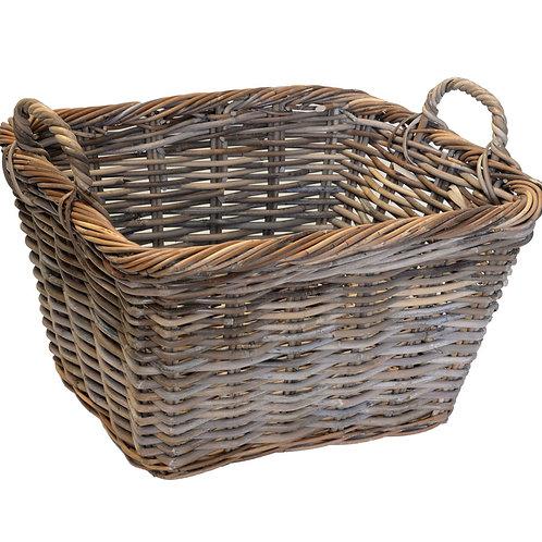 Hatton Grey Wicker Storage Basket