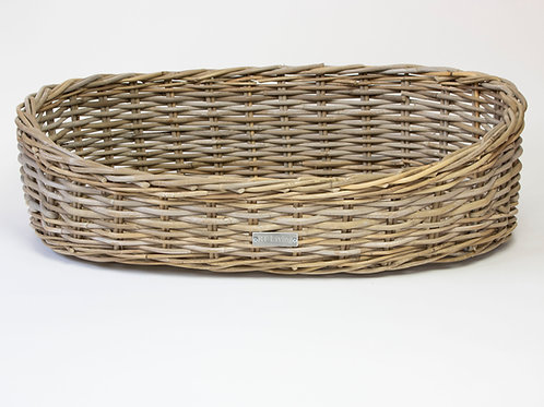 Oakley Oval Wicker Dog Bed
