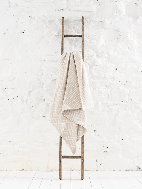 Salford Cotton Throw - White Sand