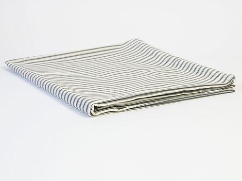 Carlton Ticking Stripe Dog Bed Cover - Gunmetal