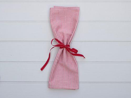 Sutton Stripe Napkins - Red (Set of 4)