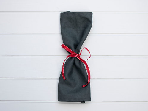 Plain Linen Napkins - Charcoal Grey (Set of 4)
