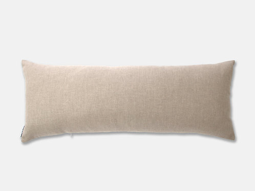 Bramley Subtle Herringbone 90cm Cushion - String