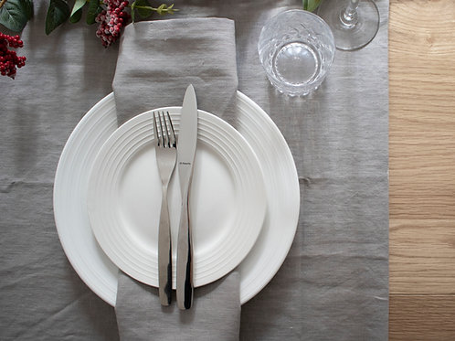 Plain Linen Table Runner - Taupe Grey