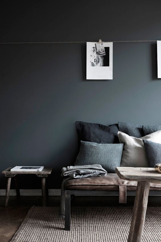 Neutral Grey Interior With Feather Scatter Cushions
