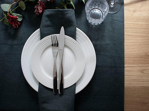 Plain Linen Table Runner - Charcoal Grey