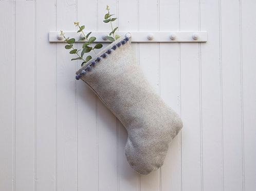 Newton Wool Christmas Stocking - Grey