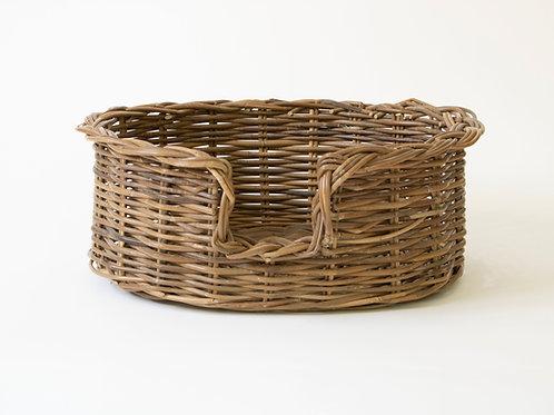 Teeton Oval Wicker Dog Basket