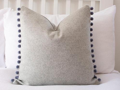 Newton Wool Feather Cushion - Grey
