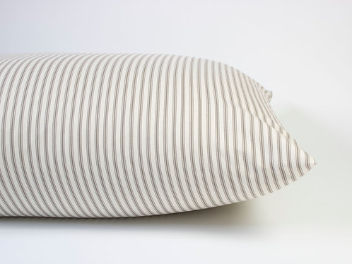 Carlton Ticking Stripe Dog Bed - Natural
