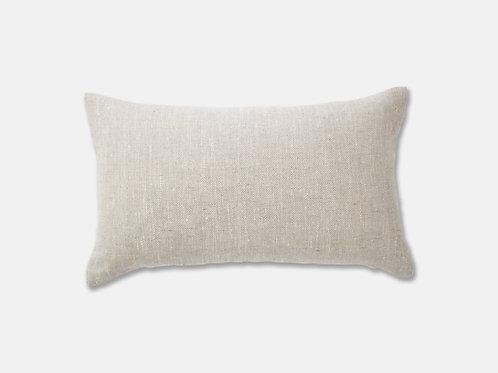 Salcombe Herringbone Linen Feather Cushion - Natural