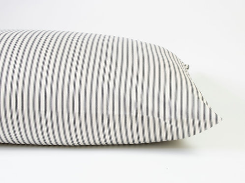 Carlton Ticking Stripe Dog Bed - Gunmetal