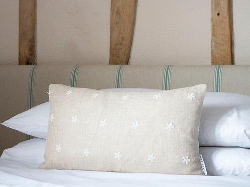 Daisy Linen Feather Cushion