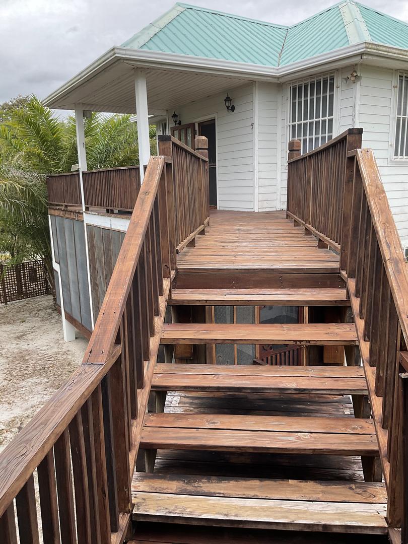 bridge to the patio