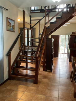 Staircase to the upper level