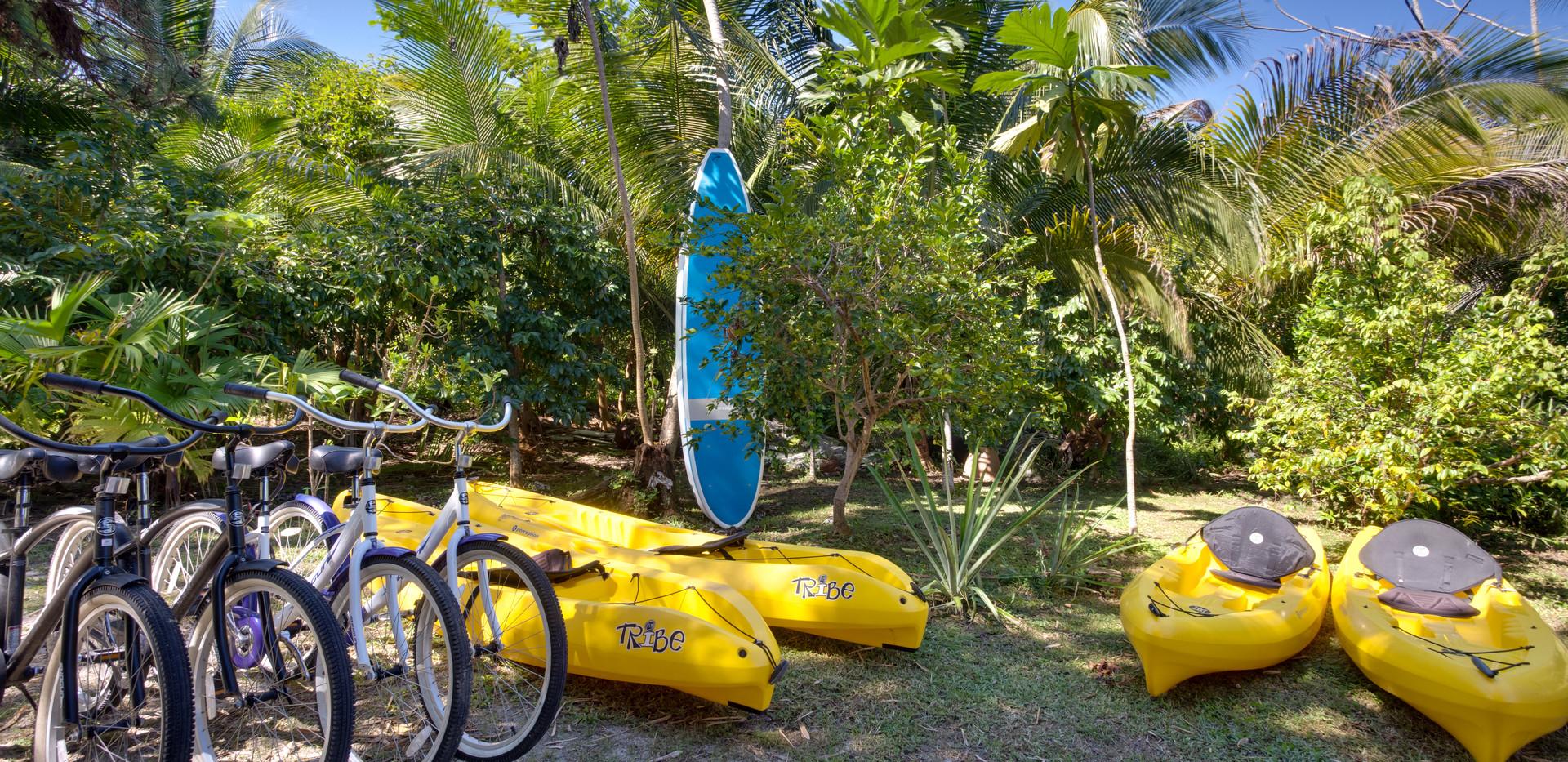Bikes&kayaks free of charge