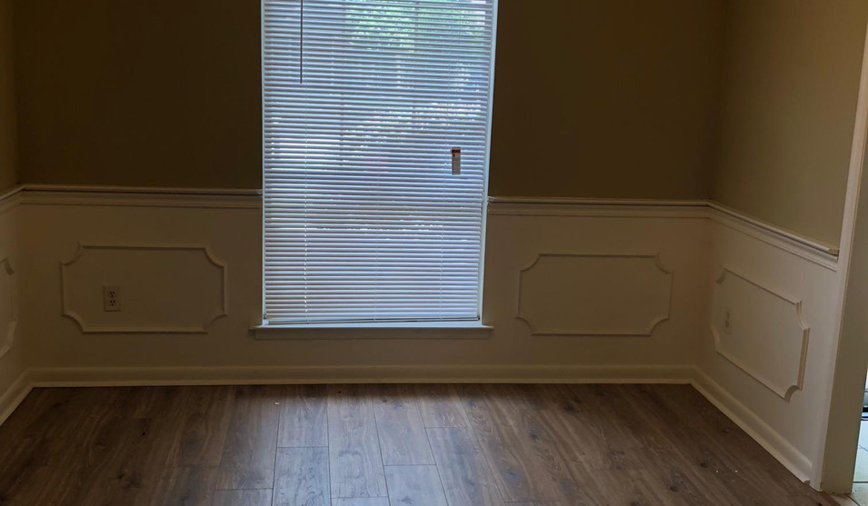 Formal Dining Room with new flooring