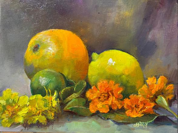 Citrus, Marigold and Tamarind Leaves