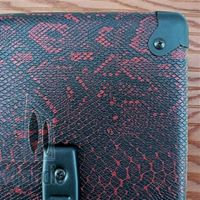 RED/BLACK SNAKESKIN TOLEX