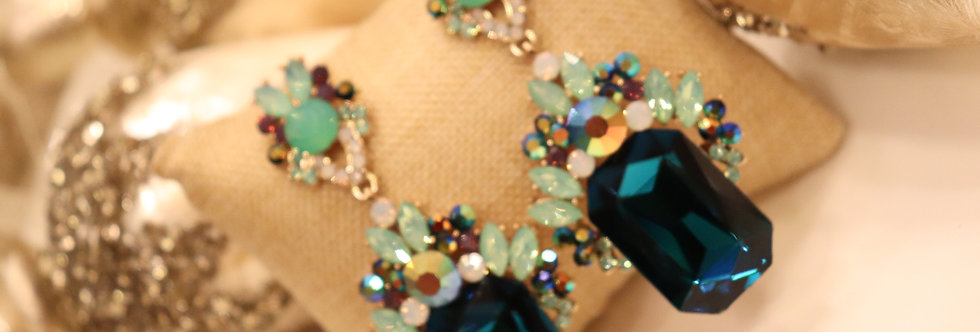 Rhinestone Long Chandelier Earrings