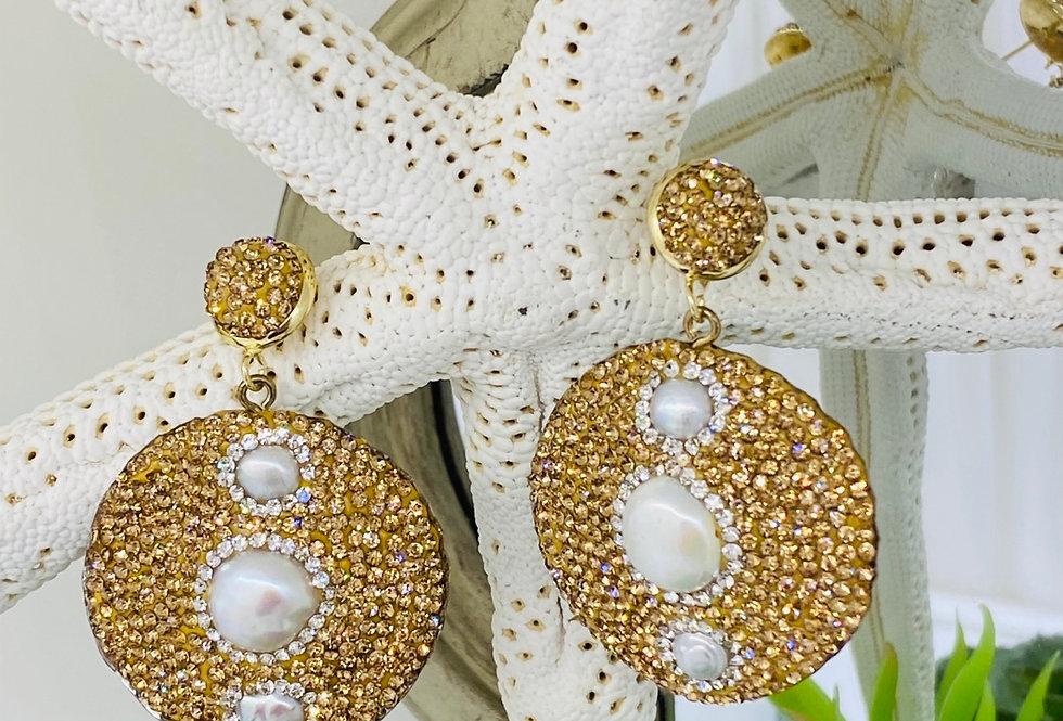 VINTAGE GOLD PEARLS EARRINGS