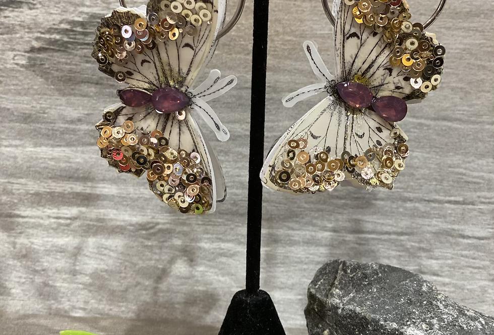 3-D butterfly earrings